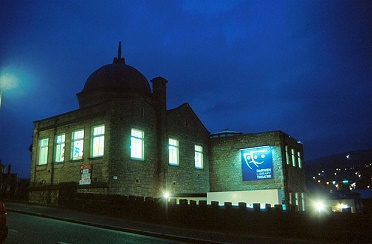 Darwen Library Theatre at night