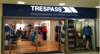 Trespass in The Mall Blackburn