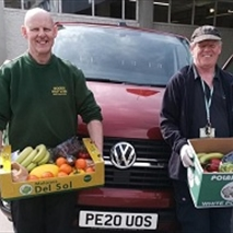 Woods Fruit & Veg delivering fresh produce.